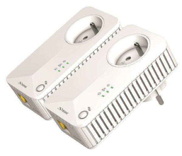 STRONG sada 2 adaptérů Powerline 500 DUO FR/ 500 Mbit/s/ 1x LAN/ bílý