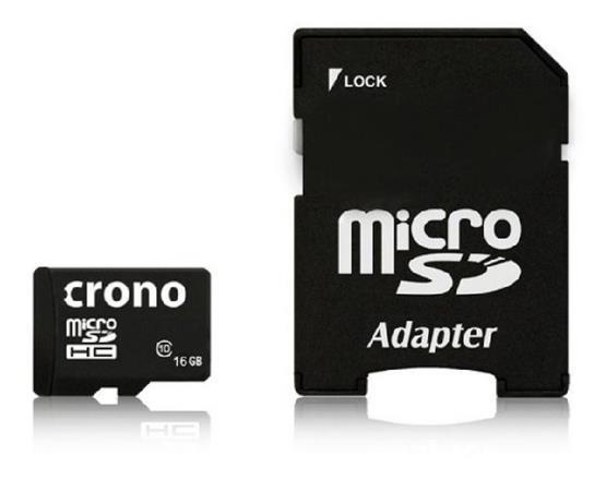 Crono micro Secure Digital HC (microSDHC) karta 16GB Class 10 + adaptér