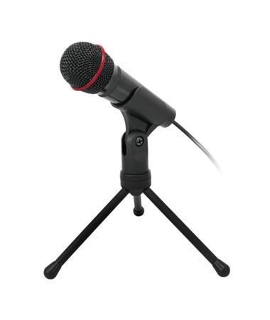 C-TECH Stolní mikrofon MIC-01, 3,5mm stereo jack, kabel 2.5m