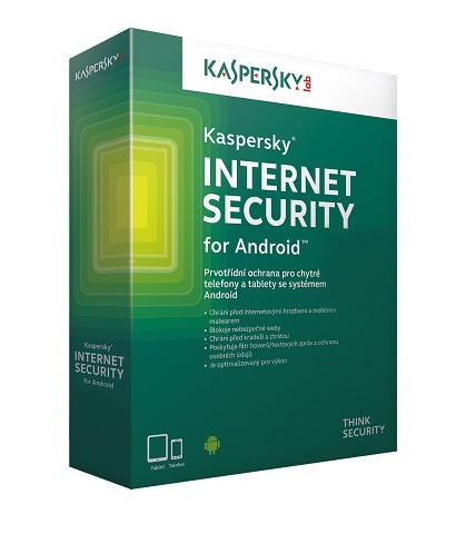 Kaspersky Internet Security for Android CZ, 3 mobily nebo tablet, 1 rok, nová licence, elektronicky