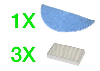 EVOLVEO RoboTrex H5,H6 - příslušenství (3 ks HEPA filtr + 1 ks XXL mop z mikrovlákna)