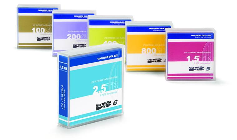 Overland LTO-8 Data Cartridge, 12TB/30TB, pre-labeled, (5-pack; contains 5 pieces)