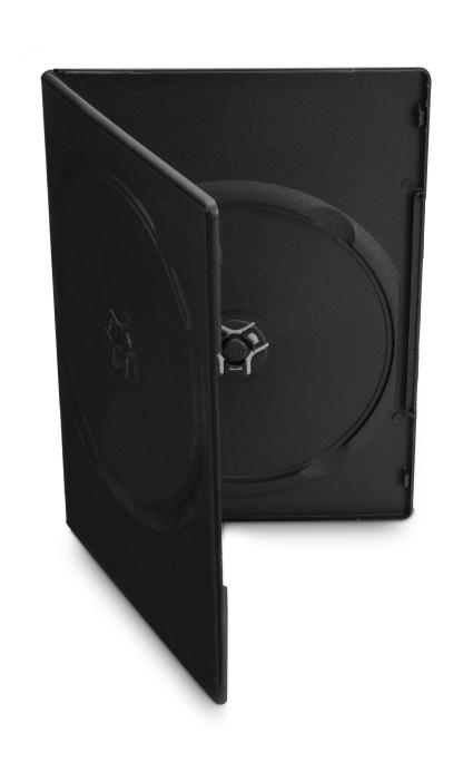 COVER IT Krabička na 2 DVD 7mm slim černý - karton 100ks