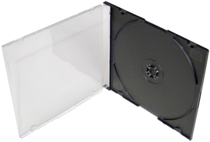 COVER IT Krabička na 1 CD 5,2mm slim box + tray 10ks/bal