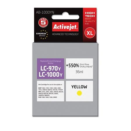 ActiveJet ink Brother LC1000Y new AB-1000YM   35 ml