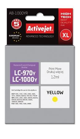 ActiveJet ink Brother LC1000Y remanufactured AB-1000YR   12 ml