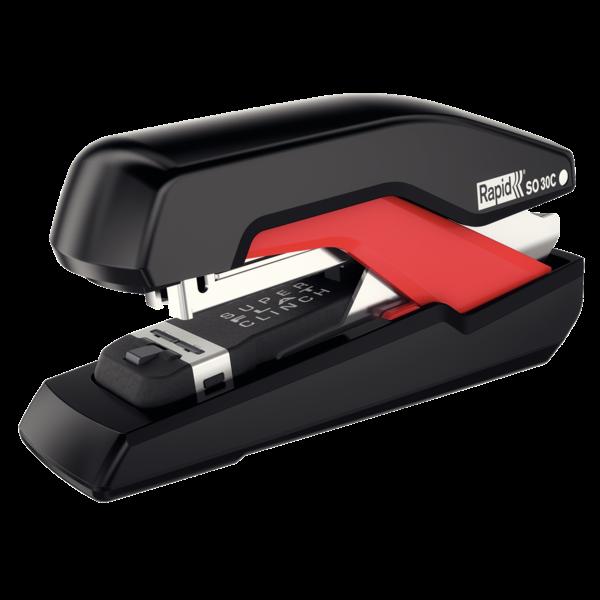 Kompaktní sešívačka Rapid Supreme Omnipress SO30c, 30 listů, černá/červená