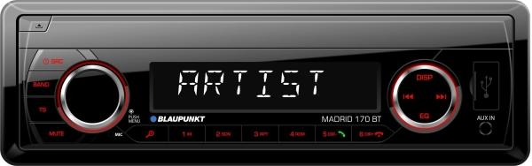 Autorádio BLAUPUNKT Madrid 170 BT, 1DIN