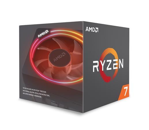 AMD cpu Ryzen 7 2700X Box AM4 (8core, 16x vlákno, 3.7GHz / 4.3GHz, 16MB cache, 105W), chladič Wraith Prism