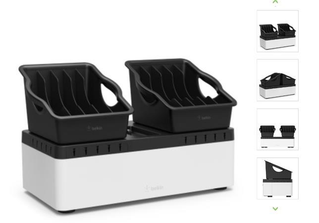 Belkin nabíjecí stanice pro 2 x 5 tabletů odnímatelná + 10port USB nabíječka