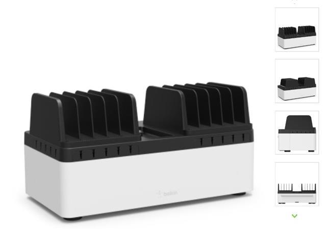 Belkin nabíjecí stanice pro 10 tabletů pevná + 10port USB nabíječka