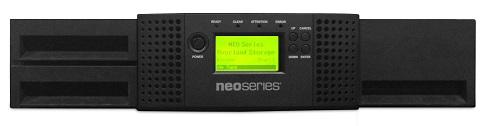 NEOs T24 2u/24-slot/1-LTO8 288TB / 720TB SAS / 3-year Bronze warranty
