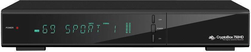 AB DVB-S/S2 přijímač Cryptobox 750HD/ Full HD/ H.265/HEVC/ čtečka karet/ HDMI/ USB/ SCART/ LAN/ PVR/ RS232