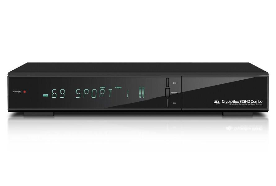 AB DVB-T2/S2/C přijímač Cryptobox 752HD Combo/ Full HD/ H.265/HEVC/ čtečka karet/ HDMI/ USB/ SCART/ LAN/ PVR/ Timeshift