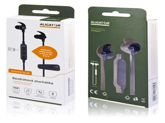 Aligator Bezdrátová sluchátka MST4 se slotem pro microSD kartu