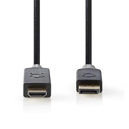 Nedis CCBW37100AT20 - DisplayPort – HDMI Kabel | DisplayPort Zástrčka - Konektor HDMI™ | 2 m | Antracit