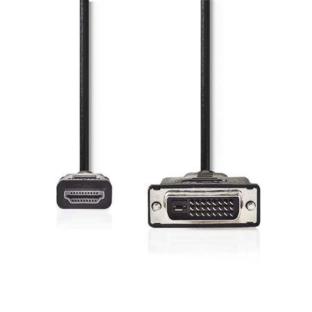 Nedis CCGP34800BK100 - HDMI™ – DVI Kabel   Konektor HDMI™ - DVI-D 24+1-Pin Zástrčka   10 m   Černá barva