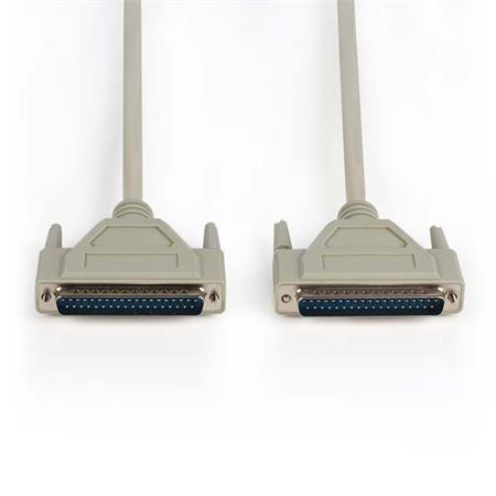 Nedis CCGP52500IV10 - Sériový Kabel   D-Sub 37-pin Zástrčka - D-Sub 37-pin Zástrčka   1 m   Slonovinová