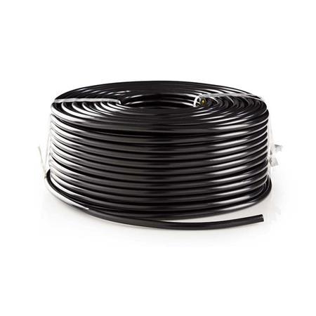 Nedis CCTVCA10BK999 - CCTV Bezpečnostní Kabel BNC / DC | RG59 | 100 m | konektory nejsou součástí balení