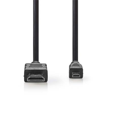 Nedis CVGP34700BK15 - Kabel High Speed HDMI™ s Ethernetem   Konektor HDMI™ - HDMI™ Micro Konektor   1,5 m   Černá barva