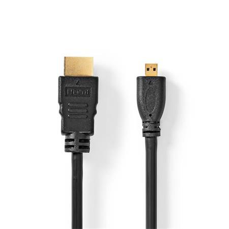 Nedis CVGP34700BK20 - Kabel High Speed HDMI™ s Ethernetem   Konektor HDMI™ - HDMI™ Micro Konektor   2 m   Černá barva