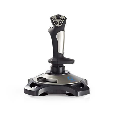 Nedis GJSK200BK - Herní Joystick | Vibrace | Napájení prostřednictvím USB | Funguje se zařízeními USB