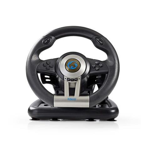 Nedis GSWL200BK - Herní Volant | Volitelné Ruční Řazení | Nožní Pedály | Vibrace