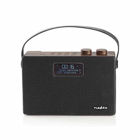 Nedis RDDB4320BN - Digitální Rádio DAB+ | 15 W | FM | Bluetooth® | Hnědá / Černá