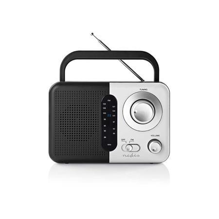 Nedis RDFM1300WT - FM Rádio | 2,4 W | Přenosná Rukojeť | Černá / Bílá