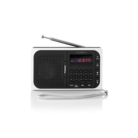 Nedis RDFM2100WT - FM Rádio | 3,6 W | Port USB a Slot na microSD kartu | Černá / Bílá