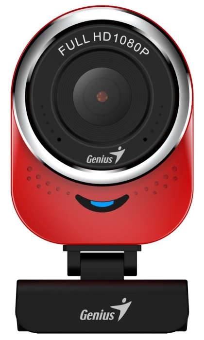 GENIUS webová kamera QCam 6000/ červená/ Full HD 1080P/ USB2.0/ mikrofon