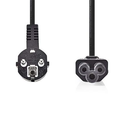 Nedis CEGP10100BK50 - Napájecí Kabel | Úhlová zástrčka Schuko - IEC-320-C5 | 5 m | Černá barva