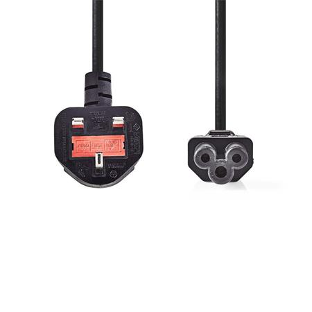 Nedis CEGP11120BK30 - Napájecí Kabel | Zástrčka Typu G (UK) - IEC-320-C5 | 3 m | Černá barva