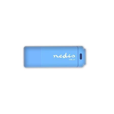 Nedis FDRIU232BU - Flash disk USB 2.0 | 32 GB | Čtení 12 MB/s / zápis 3 MB/s | Modrá