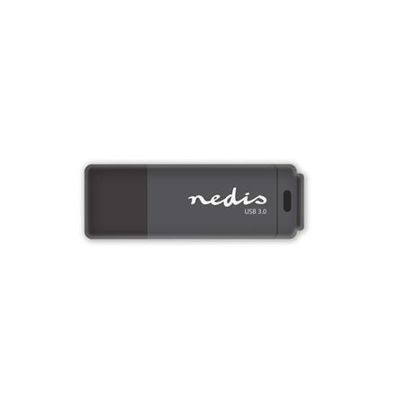 Nedis FDRIU332BK - Flash disk USB 3.0 | 32 GB | Čtení 80 MB/s / zápis 9 MB/s | Černá barva