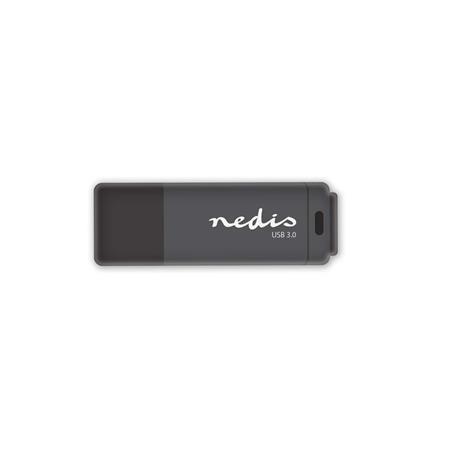 Nedis FDRIU364BK - Flash disk USB 3.0 | 64 GB | Čtení 80 MB/s / zápis 10 MB/s | Černá barva