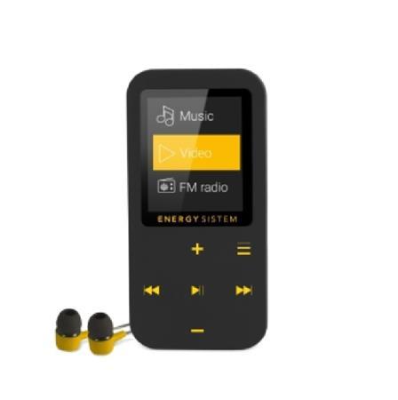ENERGY MP4 Touch Bluetooth AMBER (16GB, MicroSD, FM, sluchátka)