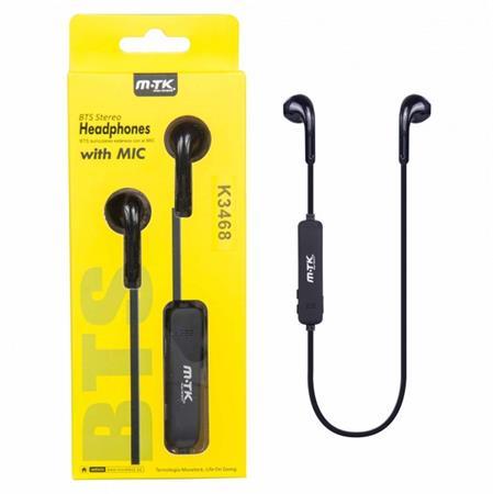 Aligator Bluetooth HF sluchátka do uší PLUS, s mikrofonem a tlačítkem K3468 woow, černá