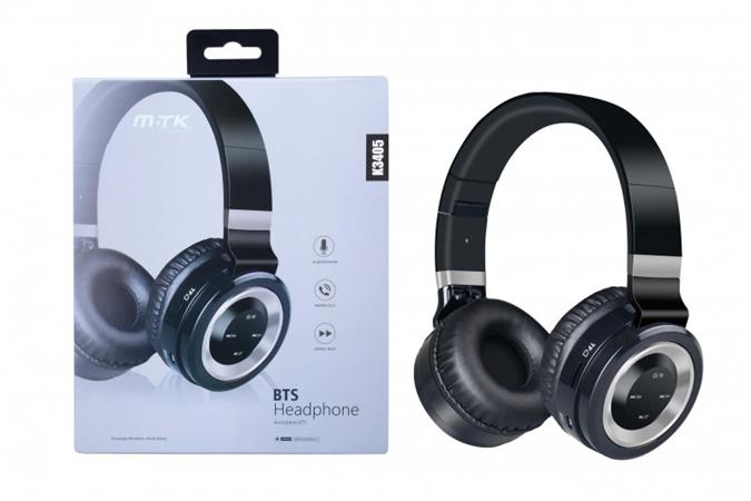 Aligator Bluetooth sluchátka PLUS K3405, s mikrofonem, FM rádiem a čtečkou pro microSD kartu