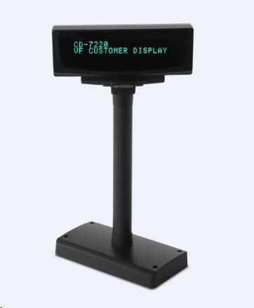 Displej Partner Tech CD-7220, 2x20 znaků, USB, černý