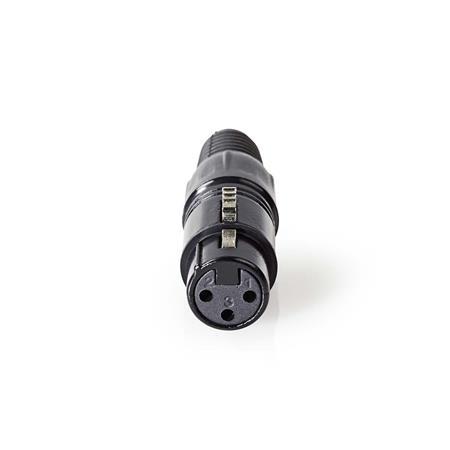 Nedis COTP15902BK - Konektor XLR   XLR 3pinová Zásuvka   Černá barva