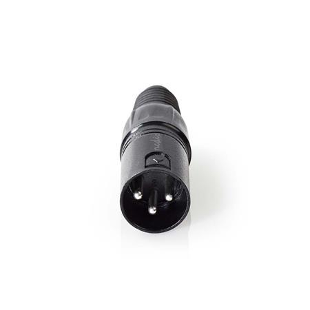 Nedis COTP15900BK - Konektor XLR   XLR 3pinová Zástrčka   Černá barva