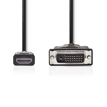Nedis CCGB34800BK30 - Kabel HDMI – DVI   HDMI Konektor - DVI-D 24+1-Pin Zástrčka   3 m   Černá barva