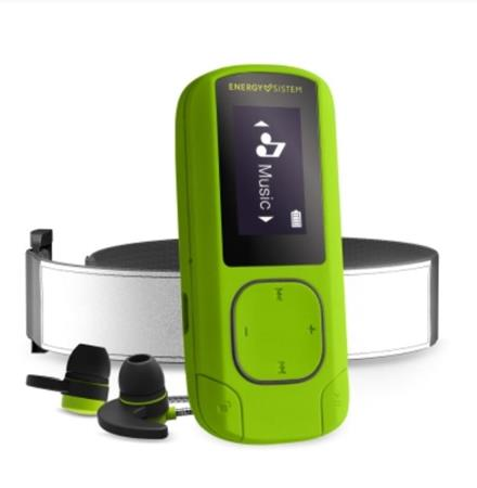 ENERGY MP3 Clip Bluetooth Sport Greenstone (16GB, MicroSD, FM, sluchátka, pásek na paži)