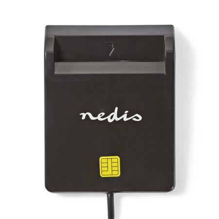Nedis CRDRU2SM2BK - Smartcard reader   USB 2.0   Black