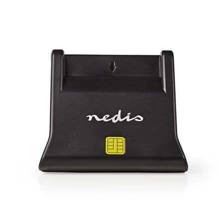 Nedis CRDRU2SM3BK - Smartcard reader   USB 2.0   Desktop model   Black
