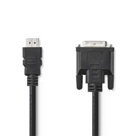 Nedis CCGB34800BK20 - Kabel HDMI – DVI   HDMI Konektor - DVI-D 24+1-Pin Zástrčka   2 m   Černá barva