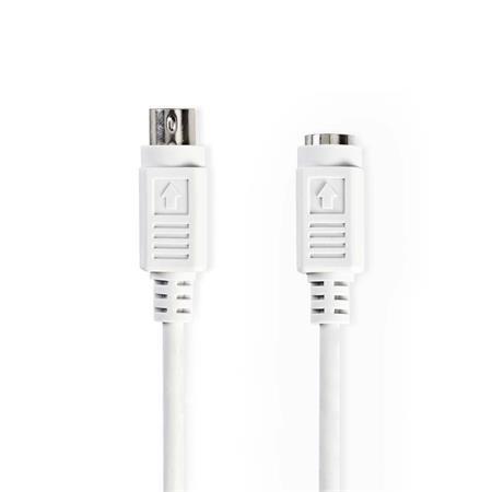 Nedis CCGP51100IV20 - Kabel PS2 | PS/2 Zástrčka - PS/2 Zásuvka | 2 m | Slonovinová