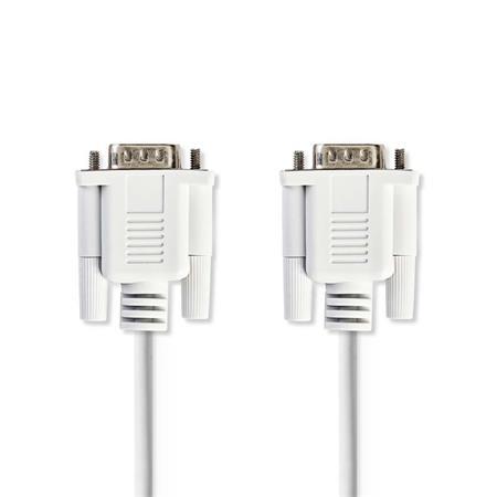 Nedis CCGP52000IV20 - Sériový Kabel   D-Sub 9-pin Zástrčka - D-Sub 9-pin Zástrčka   2 m   Slonovinová