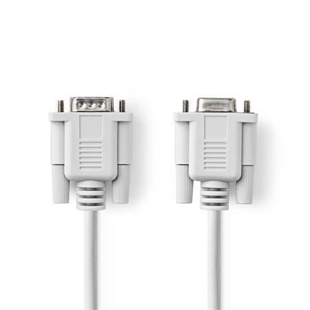 Nedis CCGP52010IV20 - Sériový Kabel | D-Sub 9-pin Zástrčka - D-Sub 9-pin Zásuvka | 2 m | Slonovinová